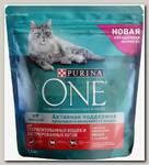 Сухой корм для стерилизованных кошек и котов Purina One Sterilized с лососем и пшеницей