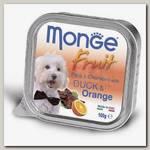 Консервы для собак Monge Dog Fruit утка с апельсином