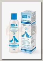 Шампунь для животных Пчелодар антибактериальный с хлоргексидином 5% пролонгированного действия