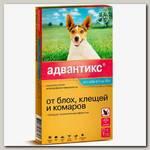 Капли для собак мелких пород весом 4-10 кг Bayer Адвантикс 100С от эктопаразитов, от блох, клещей и комаров, 1 пипетка