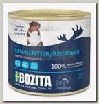 Консервы для собак Bozita Reindeer мясной паштет со вкусом оленины