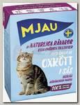 Консервы для кошек, Mjau Мясные кусочки в соусе с говядиной