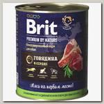 Консервы для собак Brit Premium by Nature Говядина и сердце