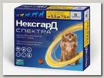 Таблетки жевательные для собак 3,5-7,5кг Merial Фронтлайн НексгарД СПЕКТРА №3, 1 гр