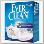 Наполнитель для кошачьего туалета Ever Clean Multi Crystals комкующийся с добавлением кристаллов (сиреневая полоса)