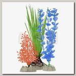 Набор растений для аквариума GloFish (S оранжевое, М зеленое, L синее)