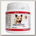 Витамины для щенков и собак мелких и средних пород Polidex Протевит плюс 150 табл.