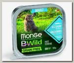 Консервы для кошек Monge Cat Bwild Grain free из анчоусов с овощами