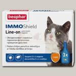 Капли для кошек Beaphar IMMO Shield Line-on от паразитов