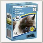 Консервы для кошек Bozita Feline Reindeer Tetra Pak Кусочки в соусе с Оленем