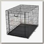 Клетка для животных MidWest Ovation с торцевой вертикально-откидной дверью черная