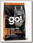 Корм для котят и кошек Go! Solutions Skin + Coat Care Grain Free Salmon Recipe CF Беззерновой с лососем