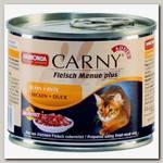 Консервы для взрослых кошек Animonda Carny Adult с говядиной, курицей и уткой