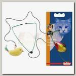 Игрушка для кошек NOBBY ПТИЧКА НА РЕЗИНКЕ, 8 см