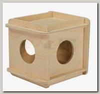 Игрушка для грызунов Дарэлл кубик, малый, деревянный 10*10*10 см.