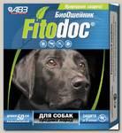 Ошейник для собак средних пород АВЗ Фитодок репеллентный био 50 см, защита от блох до 3-х месяцев, от клещей до 5 недель