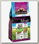 Корм для кошек Meglium Adult, со вкусом говядины, курицы и овощей