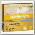 Антигельминтик для кошек от 2,5 до 5 кг Bayer Profender от глистов, капли на холку