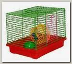 Клетка для джунгариков Зоомарк малая с колесом и миской 24*19*20 см