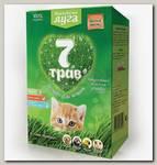 Лакомство для кошек Альпийские Луга Травка, 7 Трав (лоток)