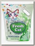 Наполнитель для кошачьих туалетов Fresh Cat Летняя прохлада, силикагелевый с ароматом 5 л