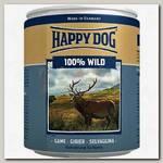 Консервы для собак Happy Dog 100% мясо Дичь