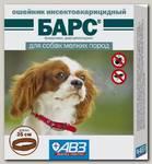 Ошейник для собак мелких пород Барс инсектоакарицидный 35 см защита от блох на 5 мес, от клещей на 4 мес.