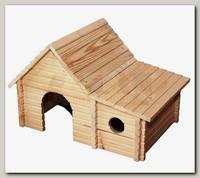 Домик для мелких грызунов Дарэлл модель С пристройкой (массив дерева) 22*17*h12см