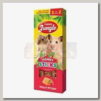 Лакомство для мелких грызунов Happy Jungle мед и ягоды, палочки 3 шт.