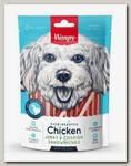Лакомство для собак Wanpy Dog курица с треской в форме сэндвича