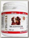 Витамины для щенков и собак крупных пород Polidex Multivitum plus 300 поливитаминно-минеральный комплекс для профилактики авитаминозов и при несбалансированном питании 300 таб.