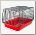 Клетка для грызунов Дарэлл ЕСО Хома №2, шаг прута 9 мм,2 этажа, 33*24*28см