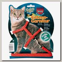 Шлейка для кошек TRIXIE светоотражающая с поводком