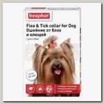 Ошейник для собак Beaphar Flea & Tick collar от блох и клещей белый, 65 см