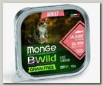 Консервы для кошек Monge Cat Bwild Grain free из лосося с овощами