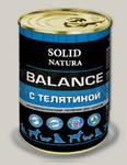 Консервы для щенков Solid Natura Balance Телятина