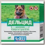 Эмульсия для собак АВЗ Дельцид концентрат для борьбы с эктопаразитами, 5 ампул по 1 дозе (2мл)