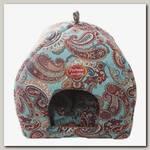 Домик-Лежак для животных Родные места, мягкий Избушка №2 Золотой огурец, 45х45х53 см