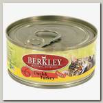 Консервы для кошек Berkley №6 утка и индейка