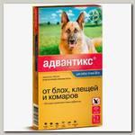 Капли для собак 25-40 кг Bayer Адвантикс 400С, от эктопаразитов, блох, клещей и комаров, 1 пипетка