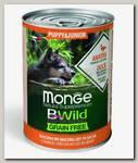 Консервы для щенков Monge Dog BWild Grainfree Puppy/Junior из утки с тыквой и кабачками