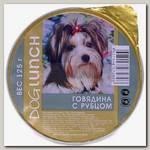Консервы для собак Dog Lunch крем-суфле говядина с рубцом (ламистер)