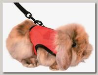 Шлейка-жилетка для грызунов (морской свинки, кролика, хорька) Trixie, полиэстер-нейлон