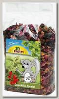 Лакомство для шиншилл JR Farm с морковью, шиповником и лепестками роз
