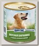 Консервы для собак Happy Dog Баранина с сердцем, печенью и рубцом