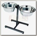 Стойка с мисками для животных Trixie, металл, 24 см, 2,8 л