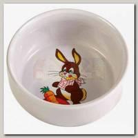 Миска для кролика Trixie керамическая с рисунком