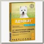 Капли на холку для собак от 4 до 10 кг Bayer Адвокат, лечение и профилактика блох, клещей и глистов, 1 пипетка