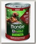 Консервы для собак всех пород Monge Dog BWild Grainfree Adult из ягненка с тыквой и кабачками