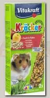 Лакомство для хомяков VITAKRAFT Kracker Fruits & Flakes крекеры фруктовые 2 шт